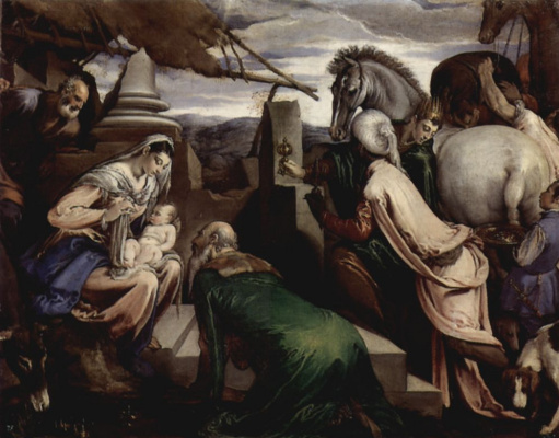 Якопо да Понте Бассано. Поклонение волхвов