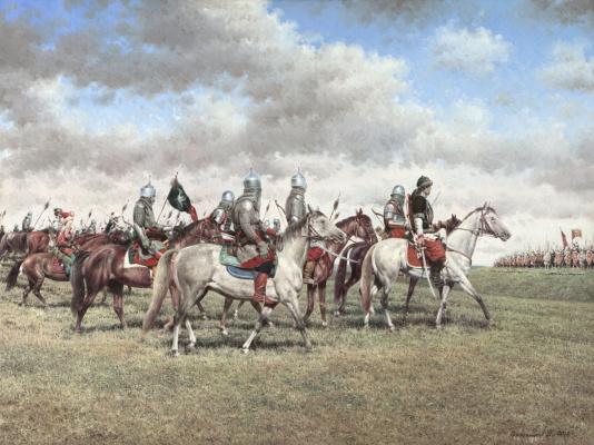 Vasily Ivanovich Gribennikov. Tatar riders