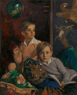 Ivan Grigorievich Myasoedov. Portrait of two boys