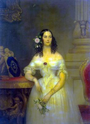 Joseph Désiré Cours. Portrait Of Catherine Alexeevna Scherbatova
