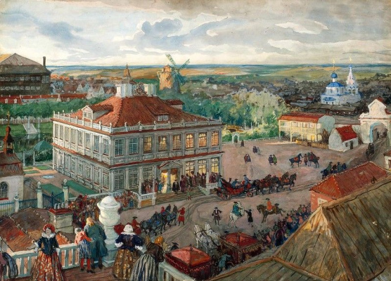 Alexander Nikolaevich Benoit. In the German quarter. Departure of Tsar Peter I of the house Lefort