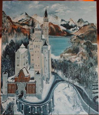 "Julia Yuryevna Boyarko. Castle Ludwig II ""Swan Cliff"""