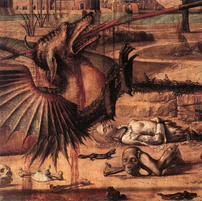 Vittore Carpaccio. SV. George and the dragon. Fragment