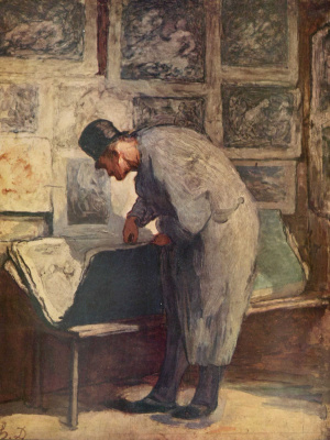 Honore Daumier. A lover of prints