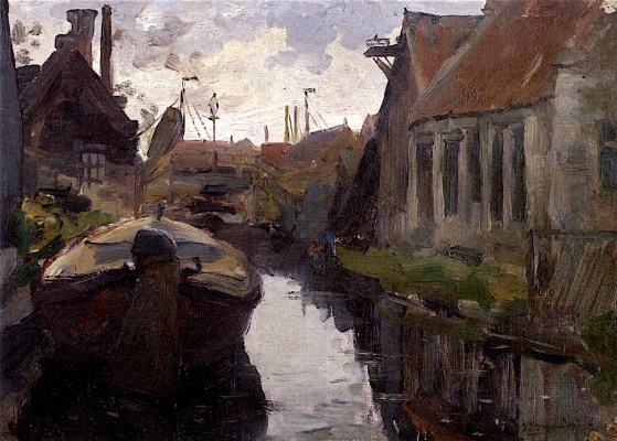 Piet Mondrian. Landscape with boat