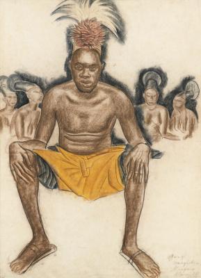 Alexander Yakovlev. Portrait of the leader Mangbetu. Ganzi. 1925