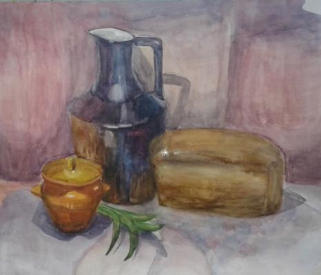 Julia Sergeevna Bochkareva. Still life with bread
