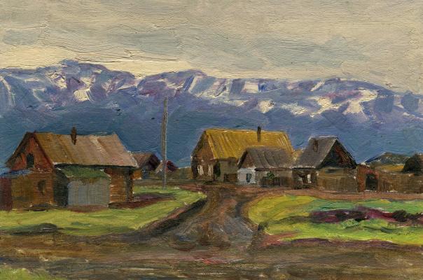 Vasily Fadeevich Demin. Etude of the village