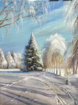 Svetlana Ivanova. Frosty day