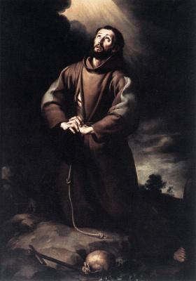 Bartolomé Esteban Murillo. Saint Francis of Assisi pray