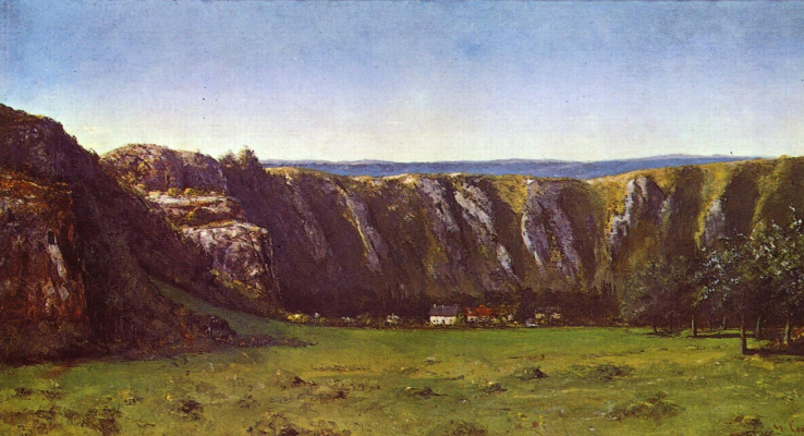 Gustave Courbet. Rock of ornans