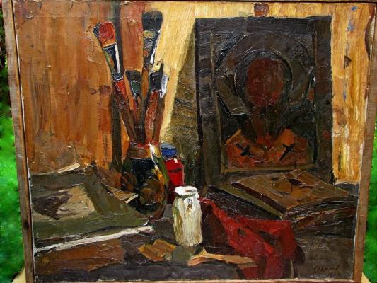 """""""Натюрморт с иконой"""", 1958, х./м., 63,5х75"""
