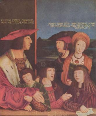 Бернард Штригель. Портрет императора Максимилиана с семьей