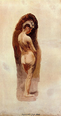 Thomas Eakins. Nude girl with lowered head