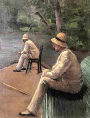 Gustave Caillebotte. Fisherman on the river Bank Hierro.