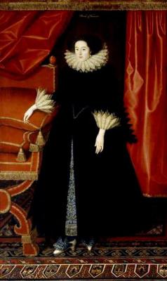 William Larkin. The portrait's Elizabeth Bassett, Countess of Newcastle