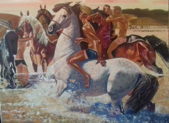 Alexander Sergeevich Krivonos. Horse riding