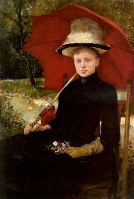Имре Кнопп. Красный зонт
