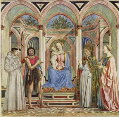 Алтарь Девы Марии, сцена: Мария с младенцем и святыми