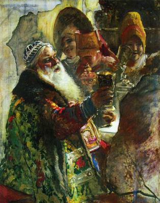 "Konstantin Makovsky. Portrait of Prince p. P. Vyazemsky. Study for the painting ""a boyar wedding feast in the XVII century"""