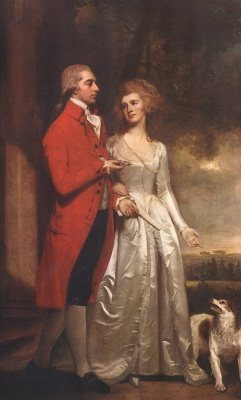 George Romney. An evening walk. Sir Christopher and Lady Sykes