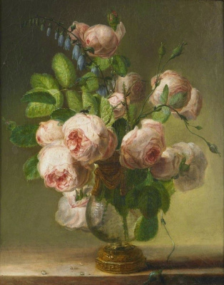 Pierre-Joseph Redoute. Vase with Flowers