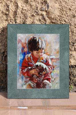 Love Dmitrievna Cheban. Boy with a dog