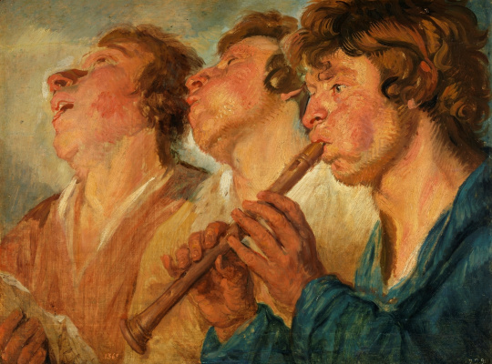 Jacob Jordaens. Itinerant musicians