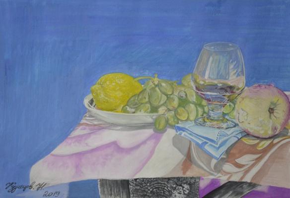 Kuznetsov.N. Lemon, grape and apple.