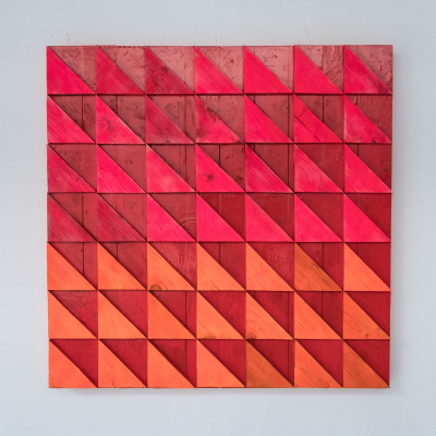 Koshtura Istvin. Object, square acid orange - red