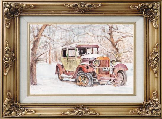 Ivan Alexandrovich Dolgorukov. Landscape with a rusty car