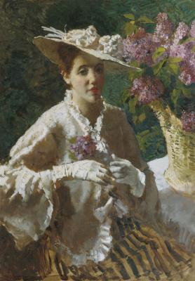 Alexey Vladimirovich Isupov. Female portrait.