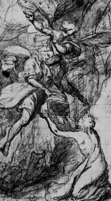 Джованни Биливерти. Даниил во рву львином получает пищу от пророка Абакука