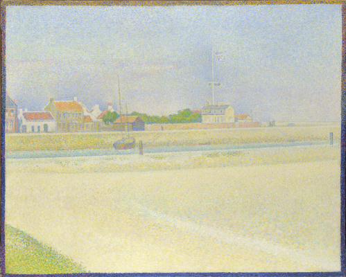 Georges Seurat. Channel Graveline, a Large Fort-Philippe