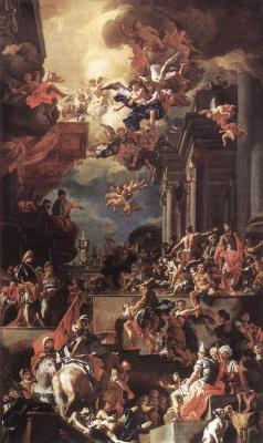Франческо Солимена. Избиение Джустиниани в Хиос