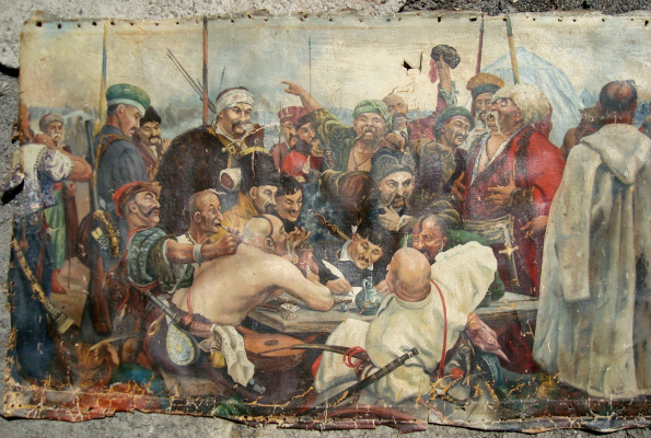 Unknown artist. The Cossacks writing letter to Turkish Sultan