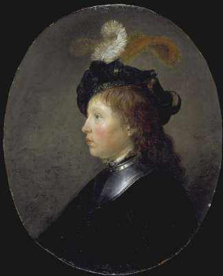 Gerrit (Gerard) Dow. Portrait of a girl