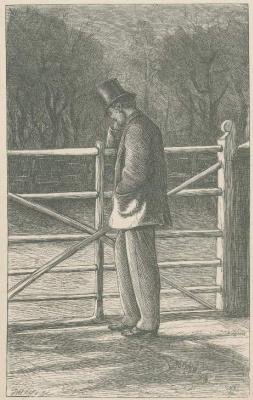 Джон Эверетт Милле. Люциус Мейсон у ворот. Иллюстрация к произведениям Энтони Троллопа