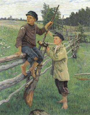 Nikolay Petrovich Bogdanov-Belsky. Village boys