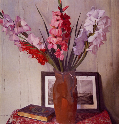 Felix Vallotton. Still life with gladioli