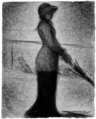Georges Seurat. Walking alone