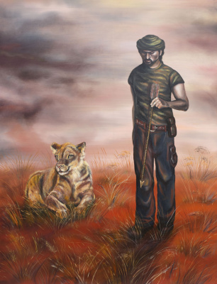 """Alla Struchayeva. Painting """"Faithful to the Heart"""""""