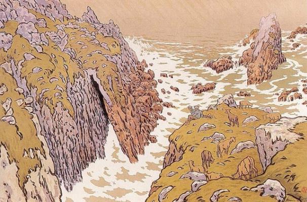 Анри (Henri) Ривьер (Rivière). Скалы (La Falaise)