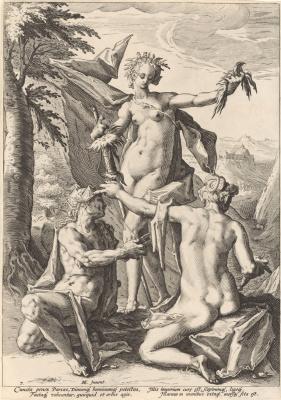 Hendrik Goltzius. Three Moira. 1588