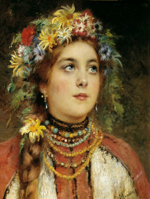 Konstantin Makovsky. Russian beauty