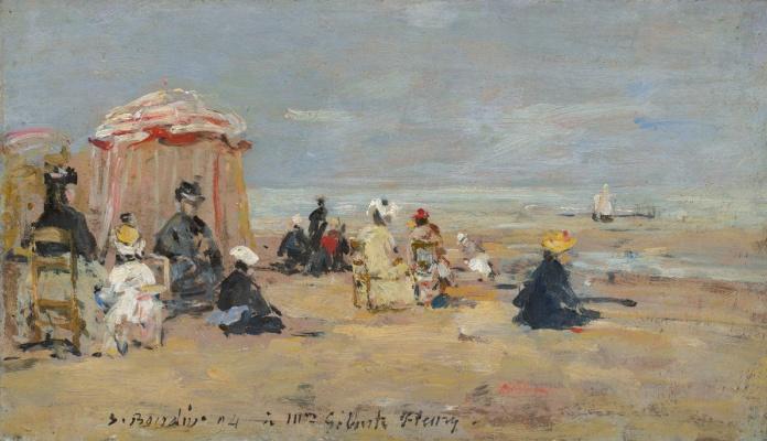 Eugene Boudin. On the beach