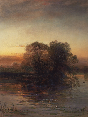 Alexey The Kondratyevich Savrasov. The pond at dusk