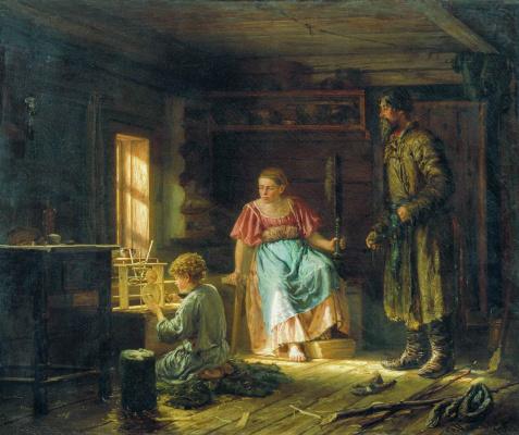 Василий Максимович Максимов. Мальчик-механик. 1871