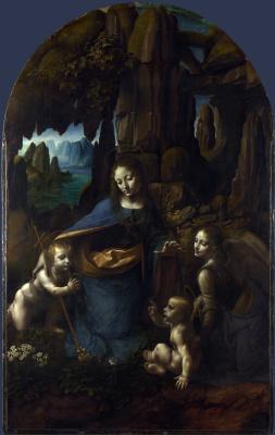 Леонардо да Винчи. Дева в скалах
