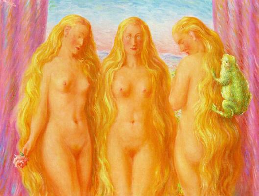 René Magritte. Sea of fire